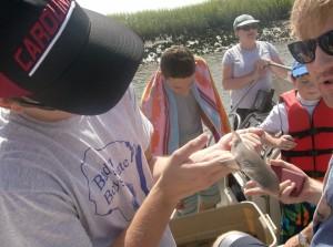 Russ holding shark